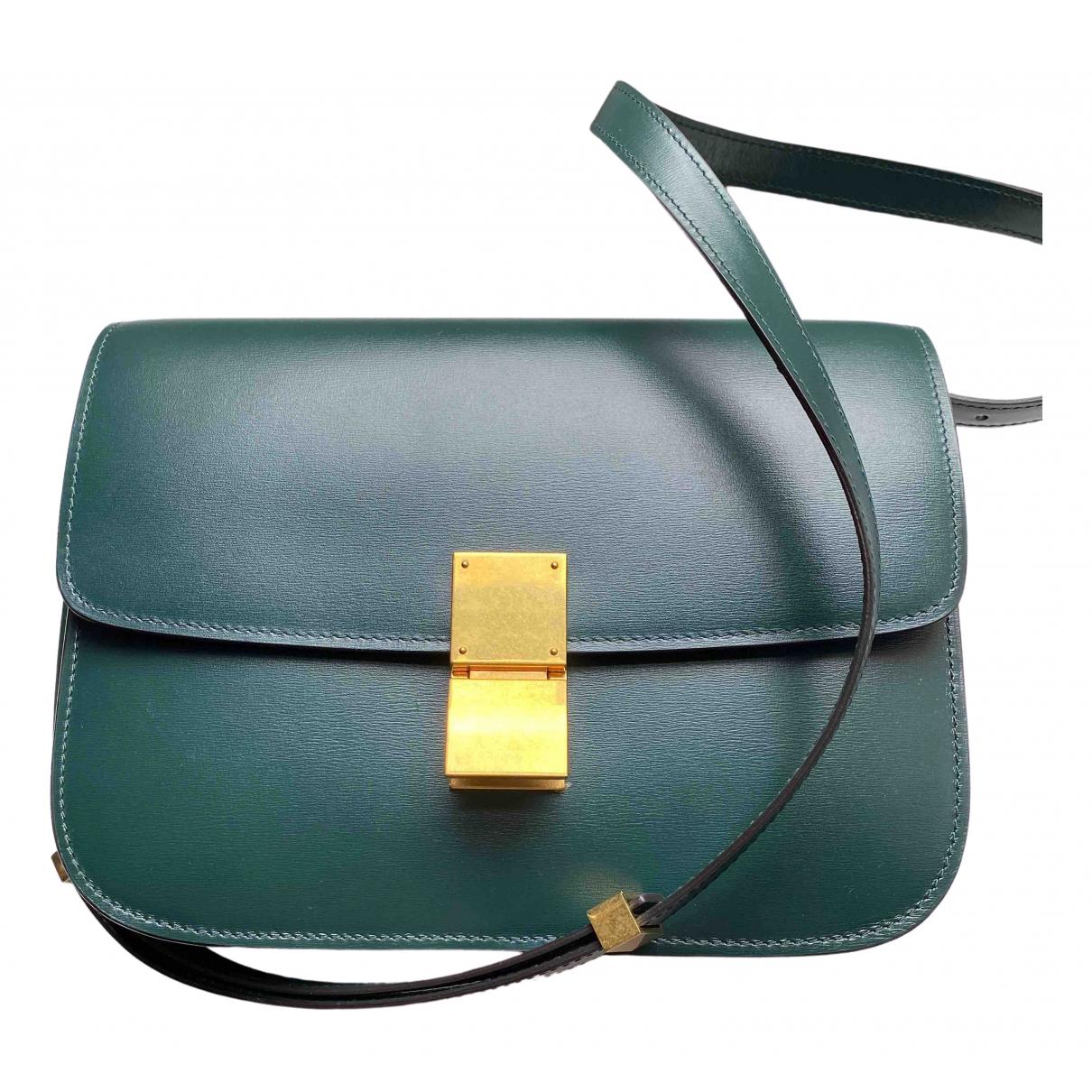 Celine Classic Handtasche in  Gruen Leder