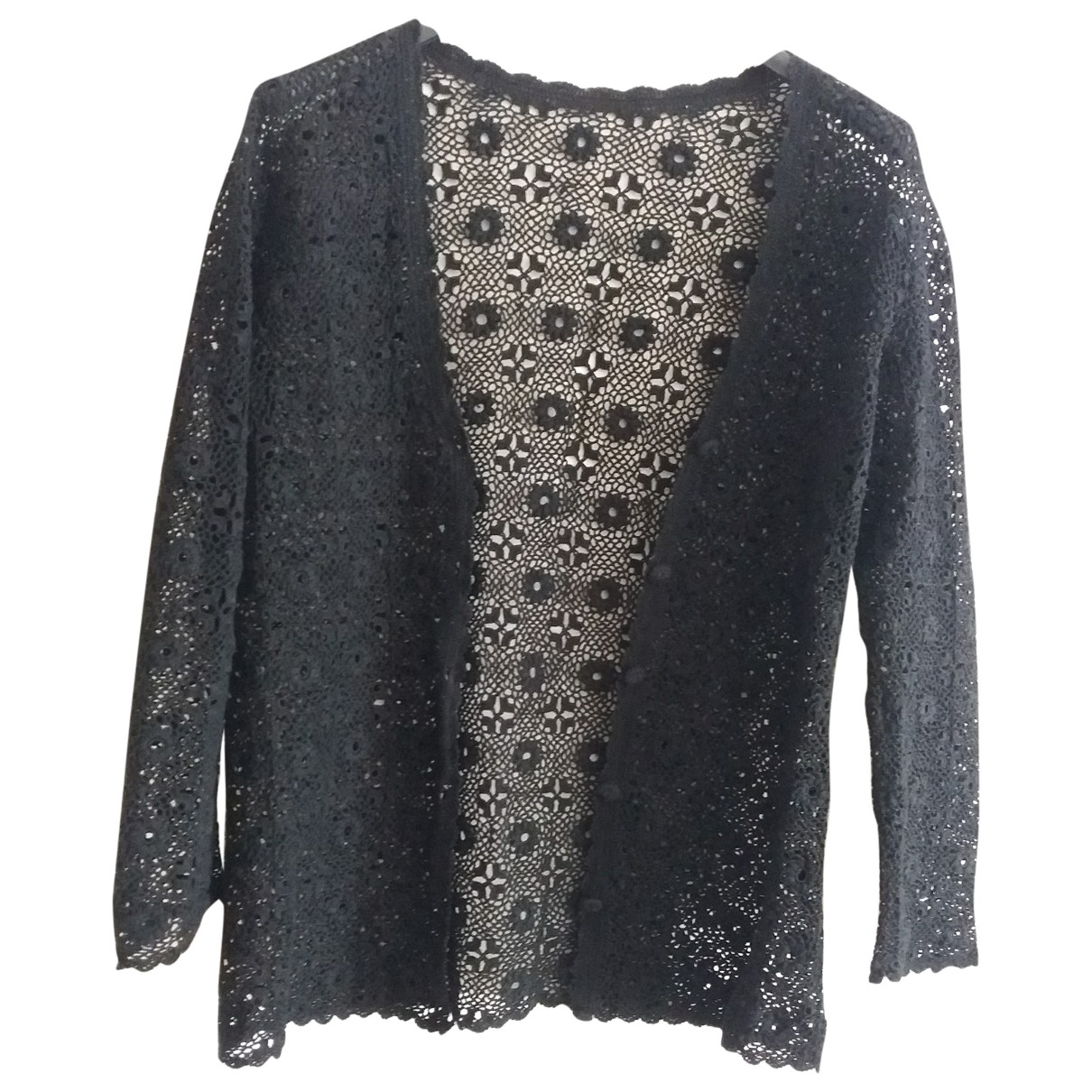 Non Signé / Unsigned \N Black Cotton Knitwear for Women S International