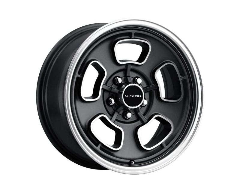 Vision Wheels 148-7865SGMF19 Shift Wheel 17x8 5x114.3 19 DGMCML Satin Gray Machined Face/Lip