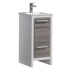 Fresca FCB8118-I Senza 16 Single Vanity Set with Wood Cabinet and (Ash Gray)