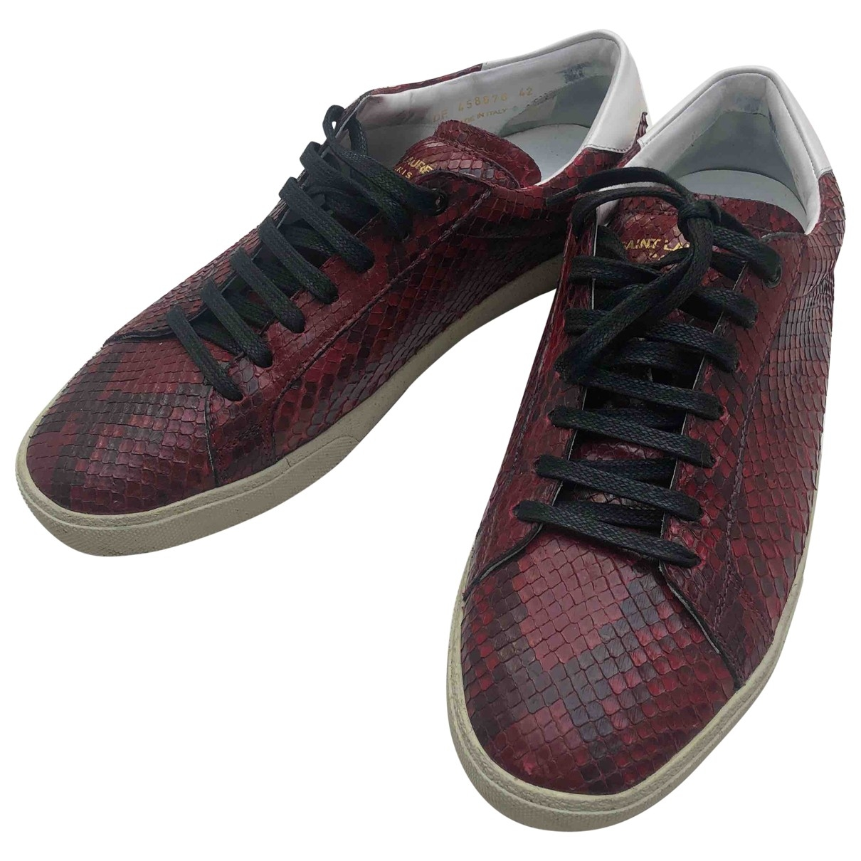 Saint Laurent \N Red Leather Trainers for Men 42 EU