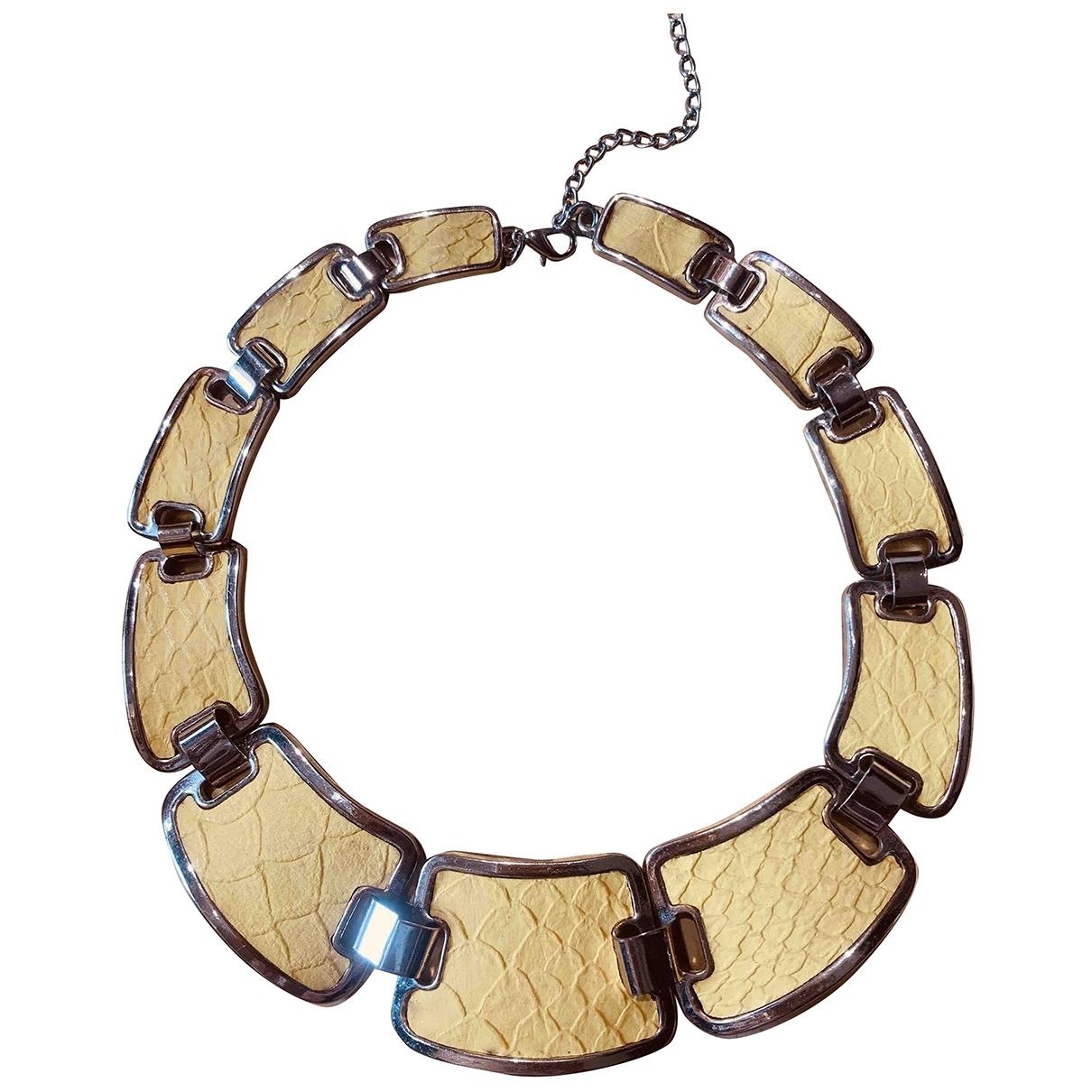 - Collier Motifs Animaliers pour femme en metal - jaune