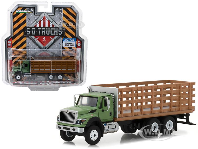 2018 International WorkStar Platform Stake Truck with Wood Effect