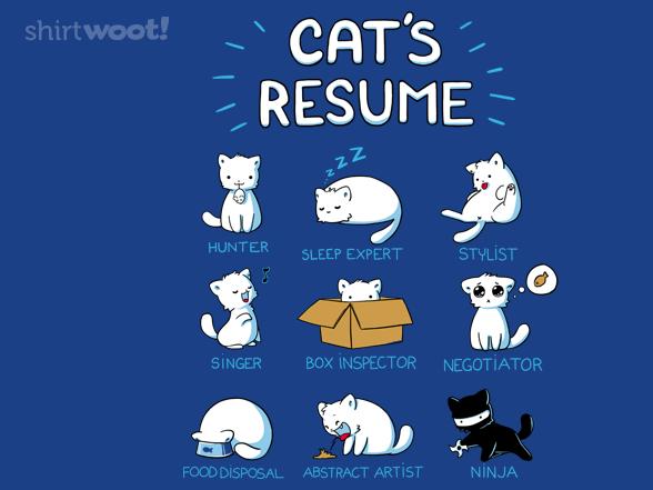Cat's Resume T Shirt