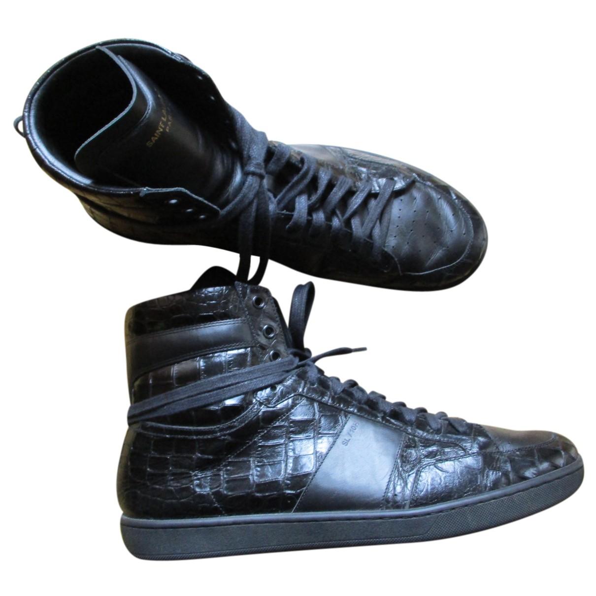 Saint Laurent SL/01 Sneakers in  Schwarz Leder