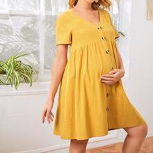 Umstandsmode Kleid mit Knopfen vorn