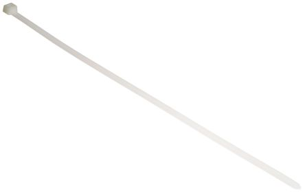 HellermannTyton , T120R Series Natural Nylon Cable Tie, 380mm x 7.6 mm