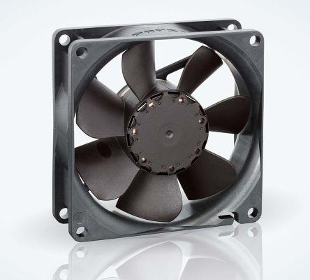 ebm-papst , 24 V dc, DC Axial Fan, 80 x 80 x 25mm, 79m³/h, 2.4W, IP68