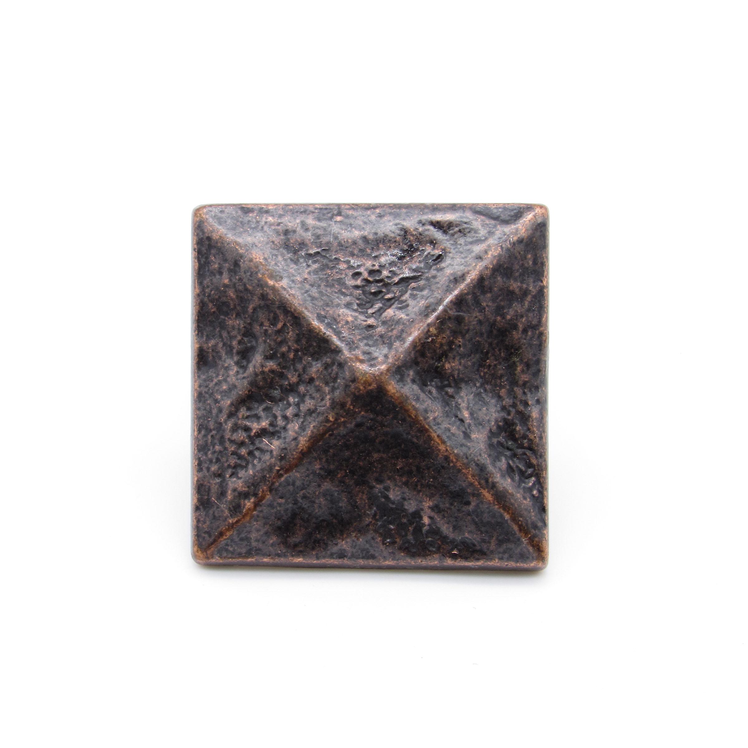 """Square 1-3/8"""" Pyramid Clavo Decorative Nail, 8-Pack, Oil Rubbed Bronze"""