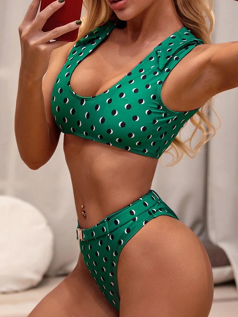 Ericdress Polka Dots Fashion Tankini Set Swimwear