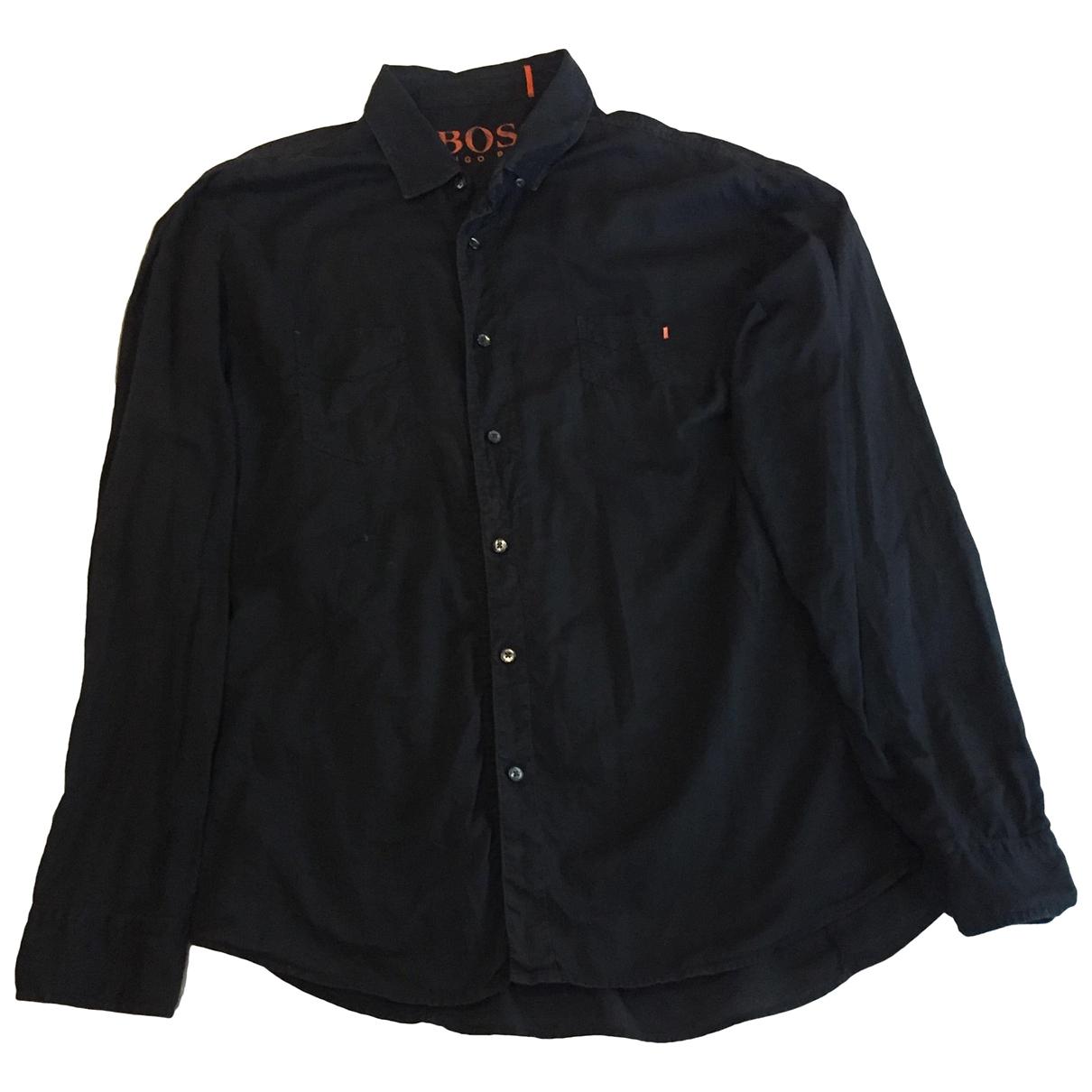 Boss - Chemises   pour homme en coton - anthracite