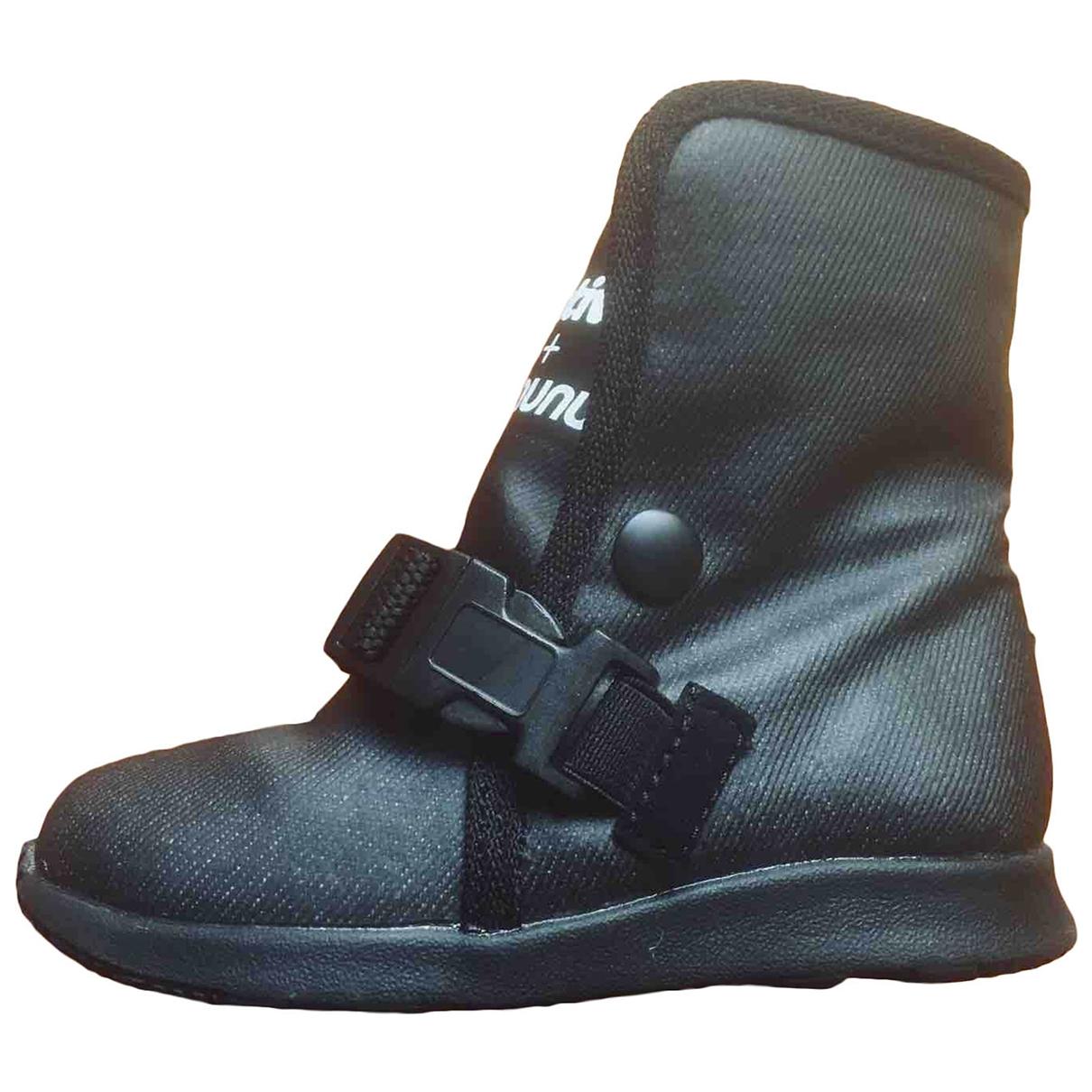 Nununu - Bottes.Bottines   pour enfant en cuir - noir