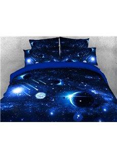 Planet Galaxy Machine Washable Soft Lightweight Warm 3D Printed 5-Piece Comforter Sets