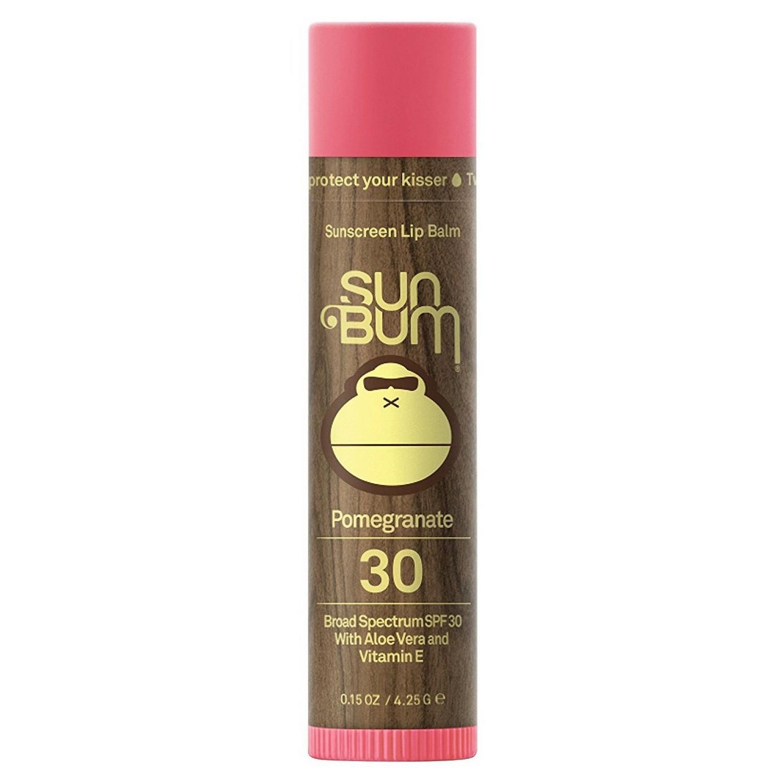 Sun Bum Sunscreen Lip Balm Pomegranate 30 Broad Spectrum SPF 30 (0.15 oz / 4.25 g)