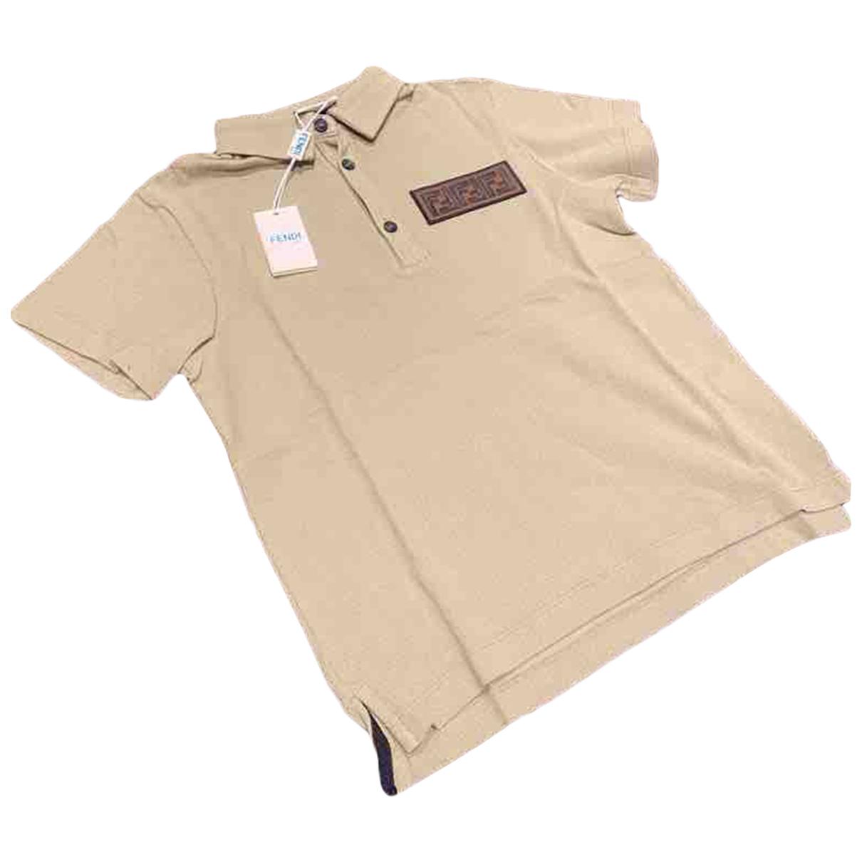 Fendi - Top   pour enfant en coton - kaki
