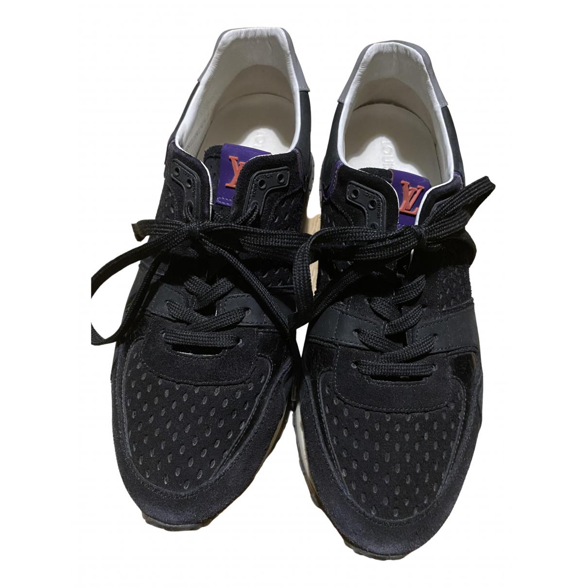 Louis Vuitton Run Away Black Cloth Trainers for Women 38.5 EU