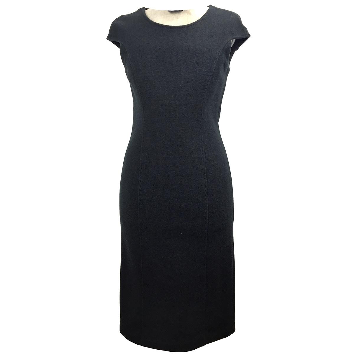 Armani Collezioni \N Kleid in  Schwarz Wolle