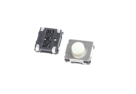 Panasonic White Push Plate Tactile Switch, Single Pole Single Throw (SPST) 20 mA 3.1mm (10)