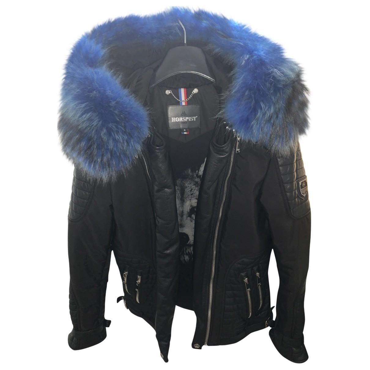 Horpist - Manteau   pour homme en cuir - noir