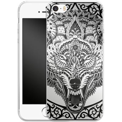 Apple iPhone SE Silikon Handyhuelle - Wolf Head von BIOWORKZ