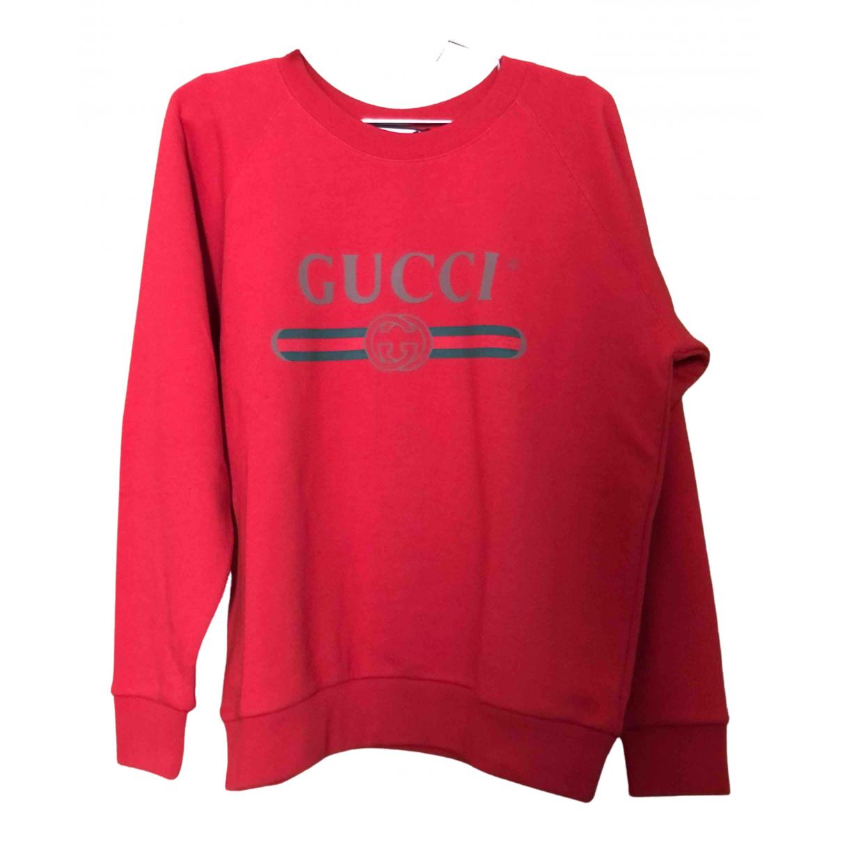 Gucci - Pull   pour femme en coton - rouge