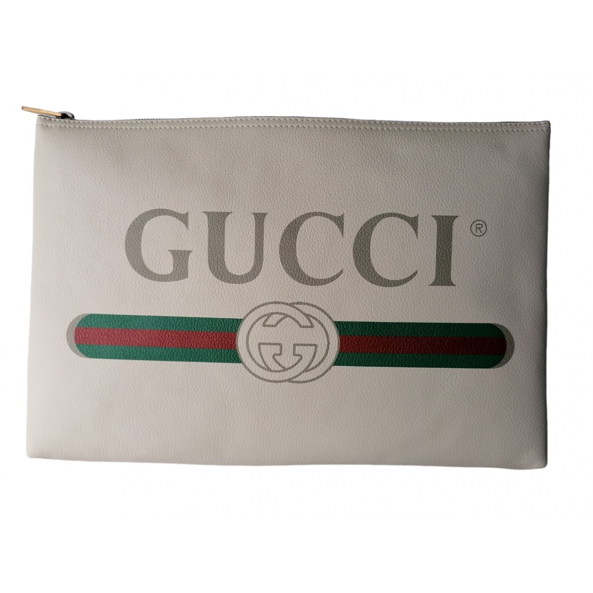 Gucci Coco capitan Clutch in  Weiss Leder