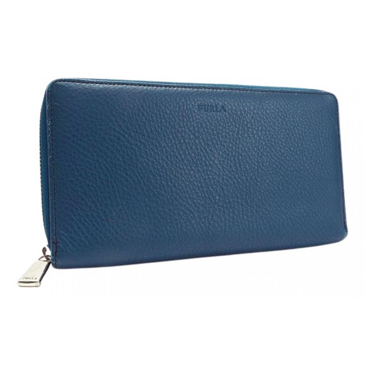 Furla N Blue Leather Small bag, wallet & cases for Men N