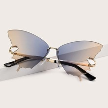 Gafas de sol de marco mariposa