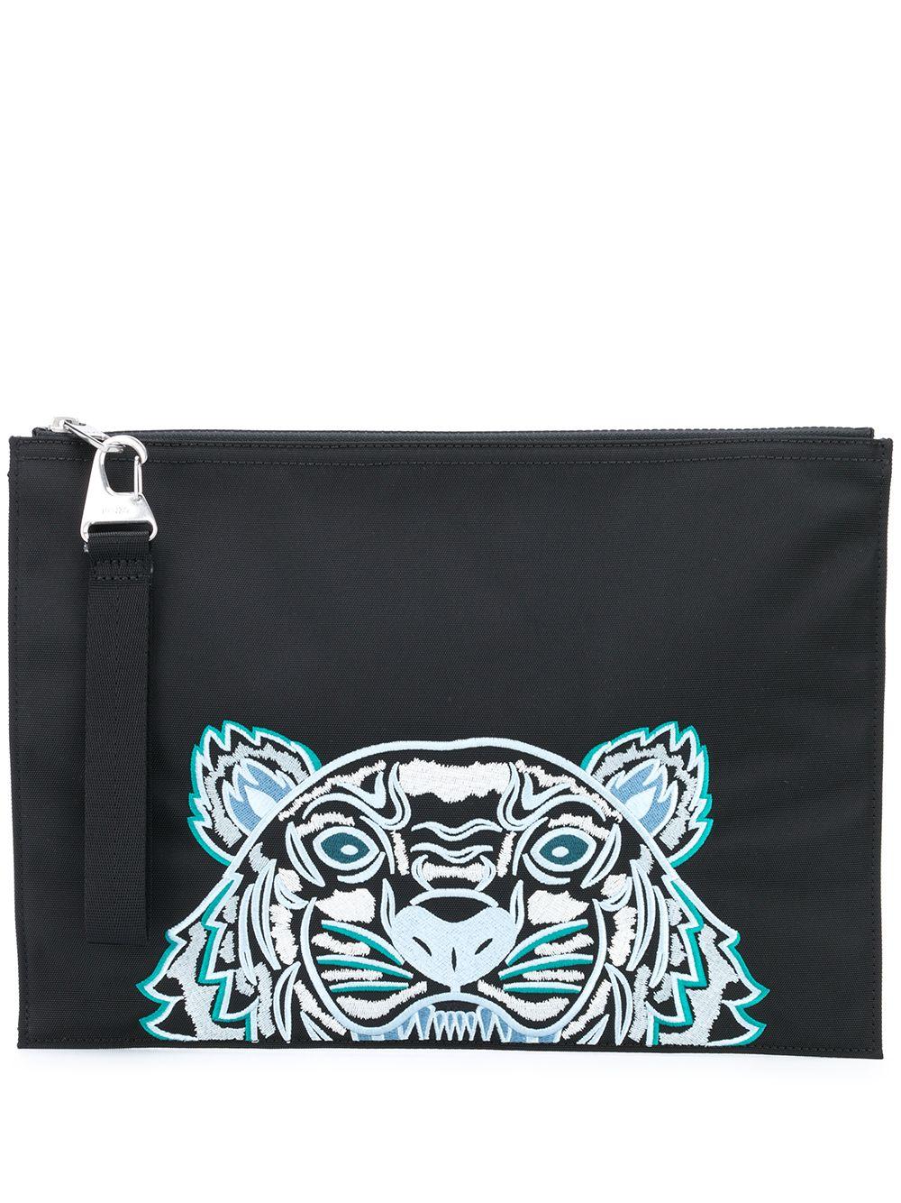 Logo Embroidered Clutch Bag