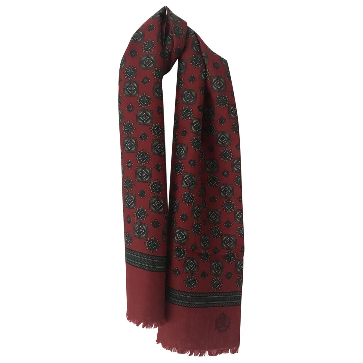 Dolce & Gabbana \N Red Silk scarf & pocket squares for Men \N