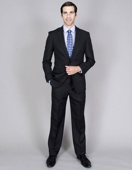 Men's Two Buttons Stripe Single Breasted Giorgio Fiorelli Brand suits