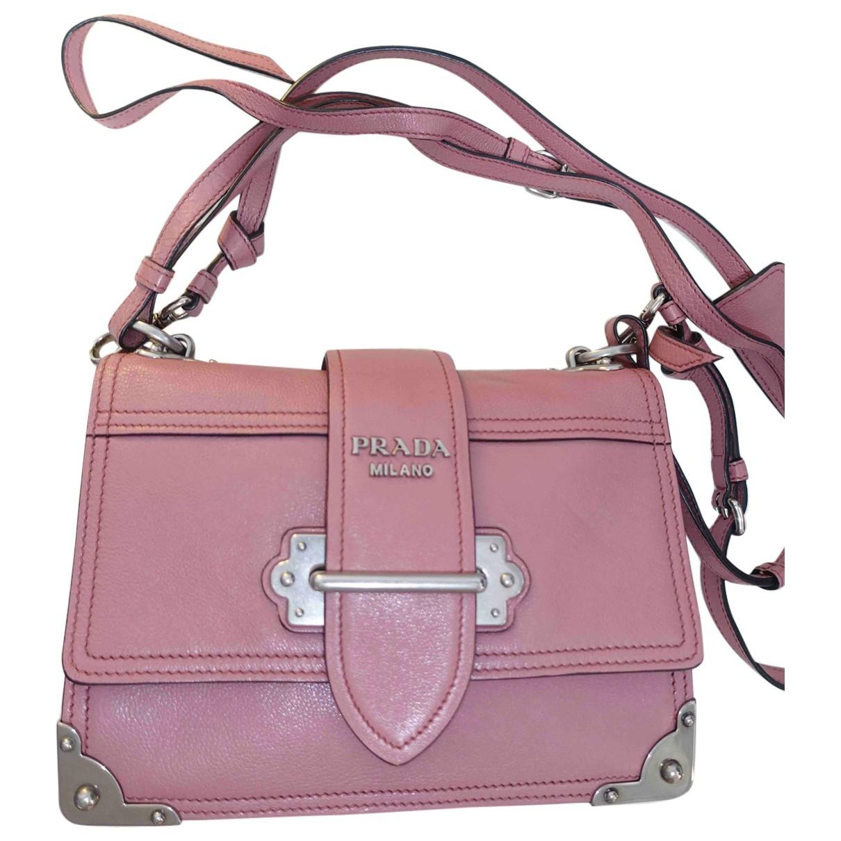 Prada - Sac a main Cahier pour femme en cuir - rose