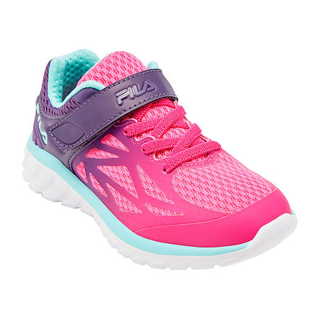 Fila Speedstride Strap Girls Running Shoes, 4 Medium, Pink
