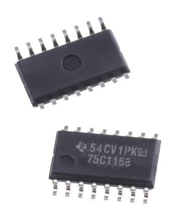 Texas Instruments SN75C1168NSR, Dual Line Transceiver, RS-422 2-TX 2-RX, 5 V, 16-Pin SOP (5)