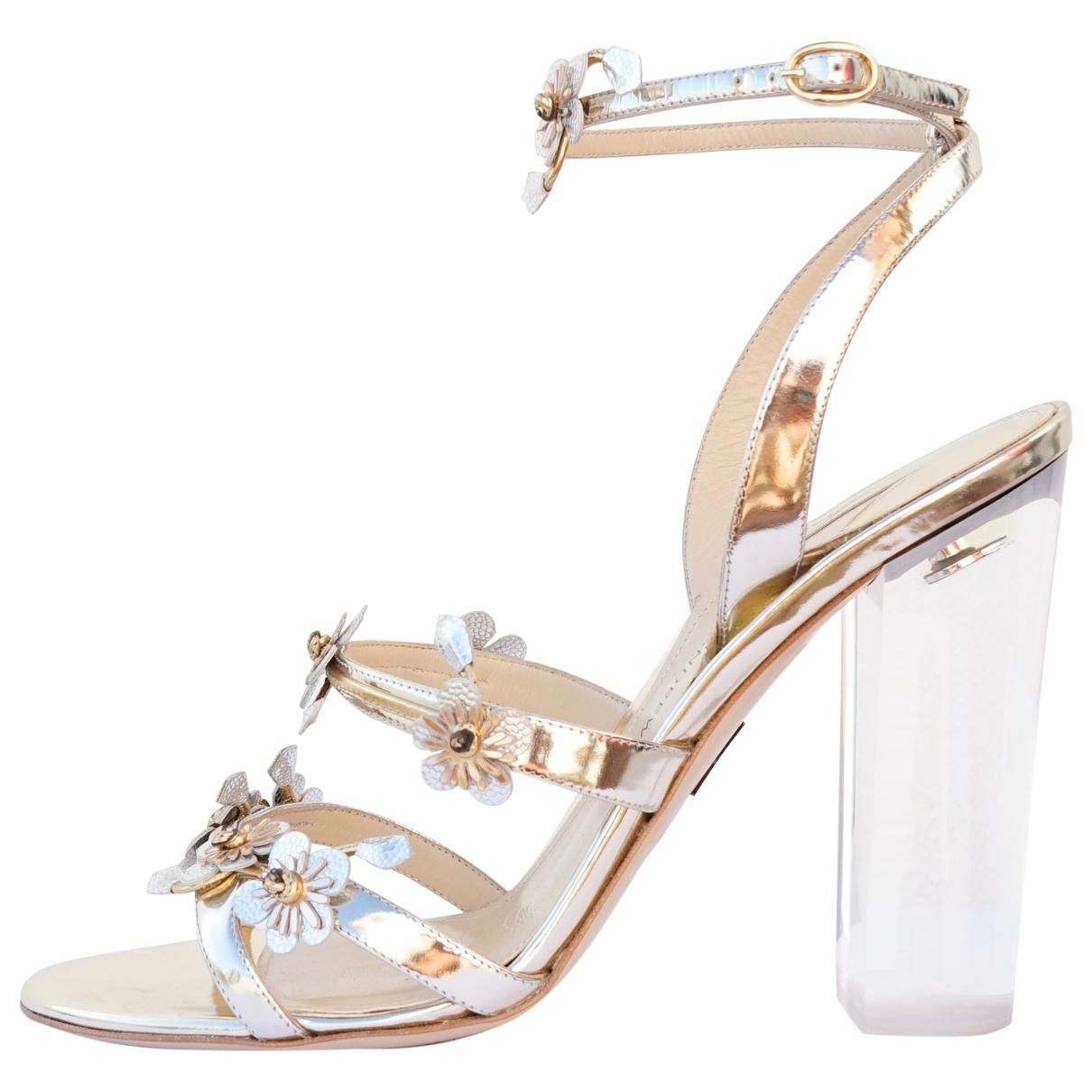 Paul Andrew \N Metallic Leather Sandals for Women 40 EU