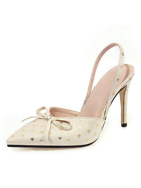 Milanoo Zapatos de tacon de aguja para mujer Zapatos de tacon de aguja con punta puntiaguda Zapatos de talla grande