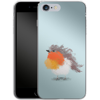 Apple iPhone 6s Plus Silikon Handyhuelle - Cloudy Robin von caseable Designs