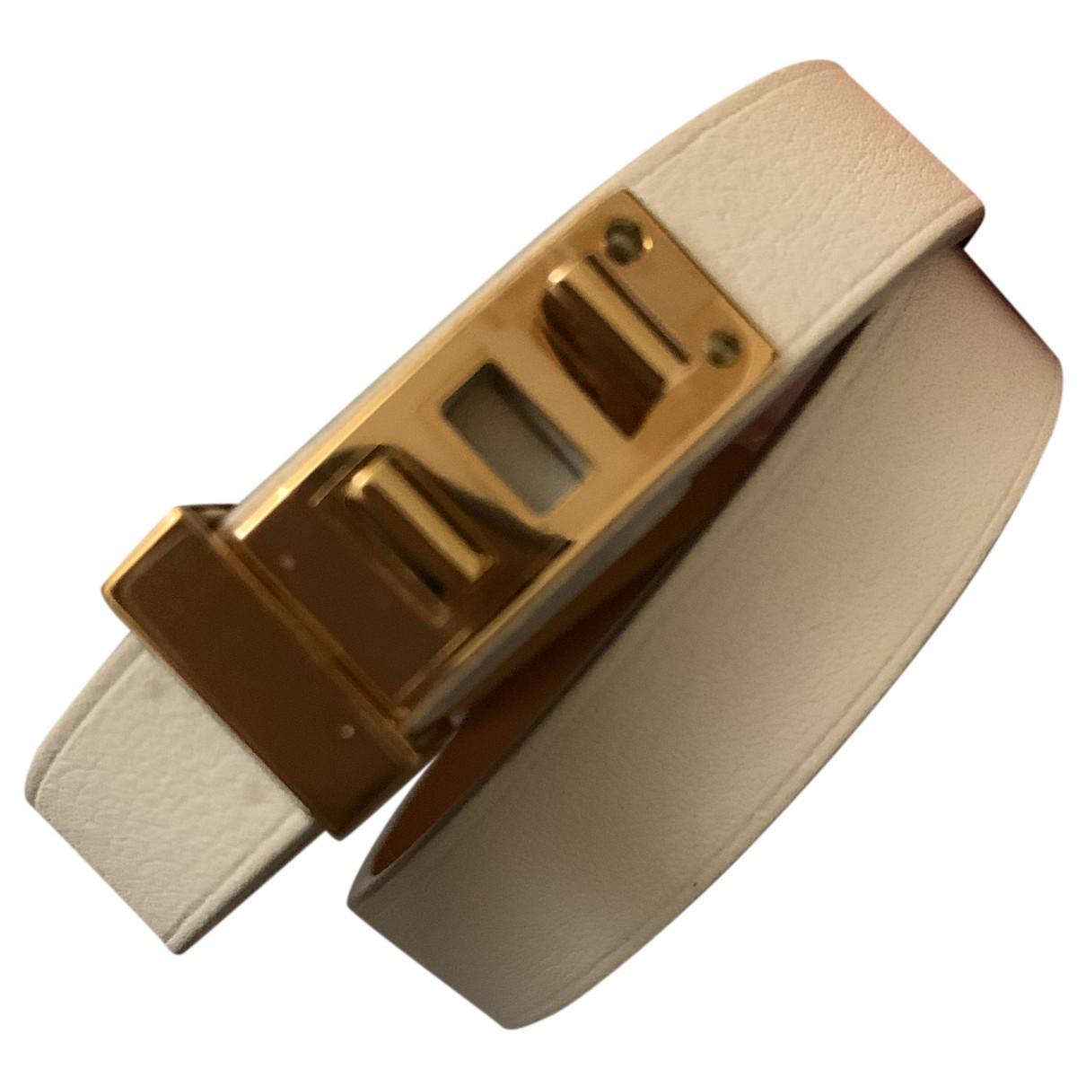 Hermes \N Armband in  Gold Leder