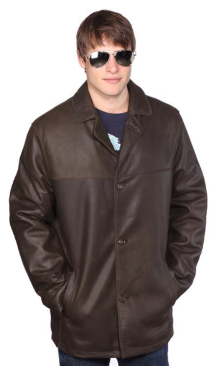 Alden Leather Jacket Dark Brown
