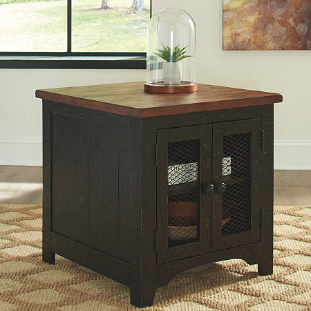Signature Design by Ashley Valebeck Rectangular End Table, One Size , Brown