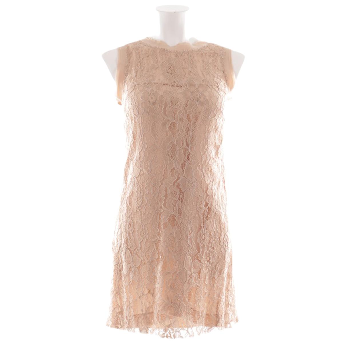 Dolce & Gabbana \N Kleid in  Orange Seide