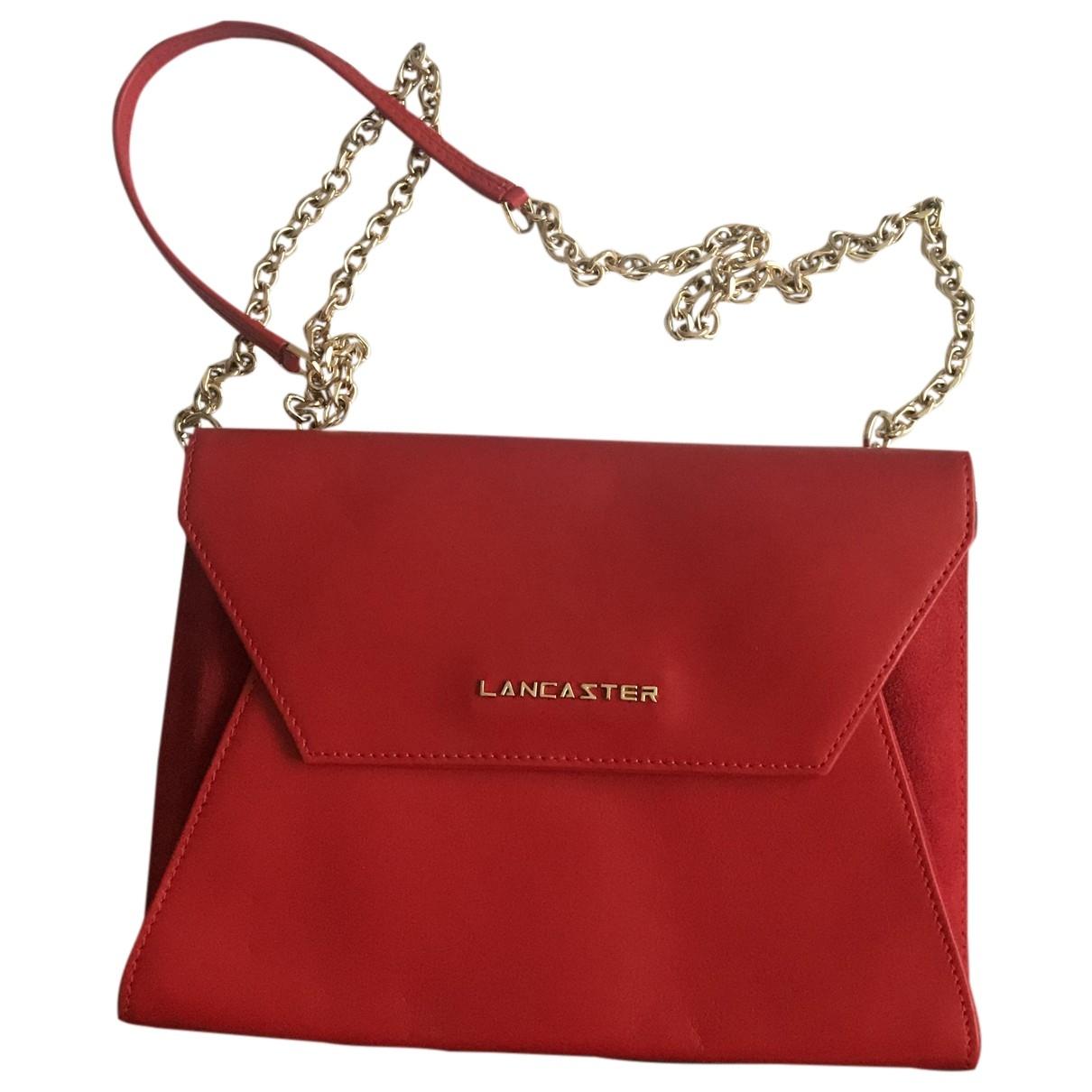 Lancaster \N Clutch in  Rot Leder