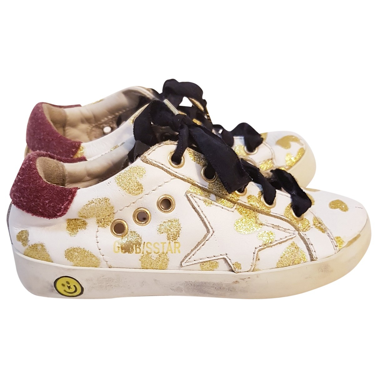 Golden Goose Ball Star Sneakers in  Weiss Leder