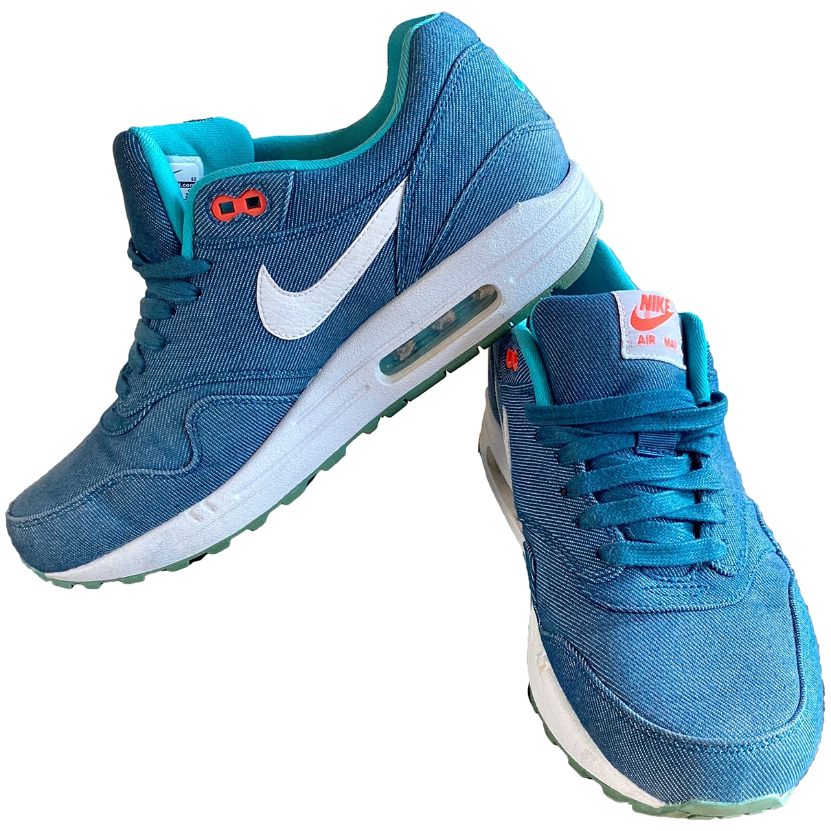 Nike Air Max 1 Sneakers in  Tuerkis Polyester
