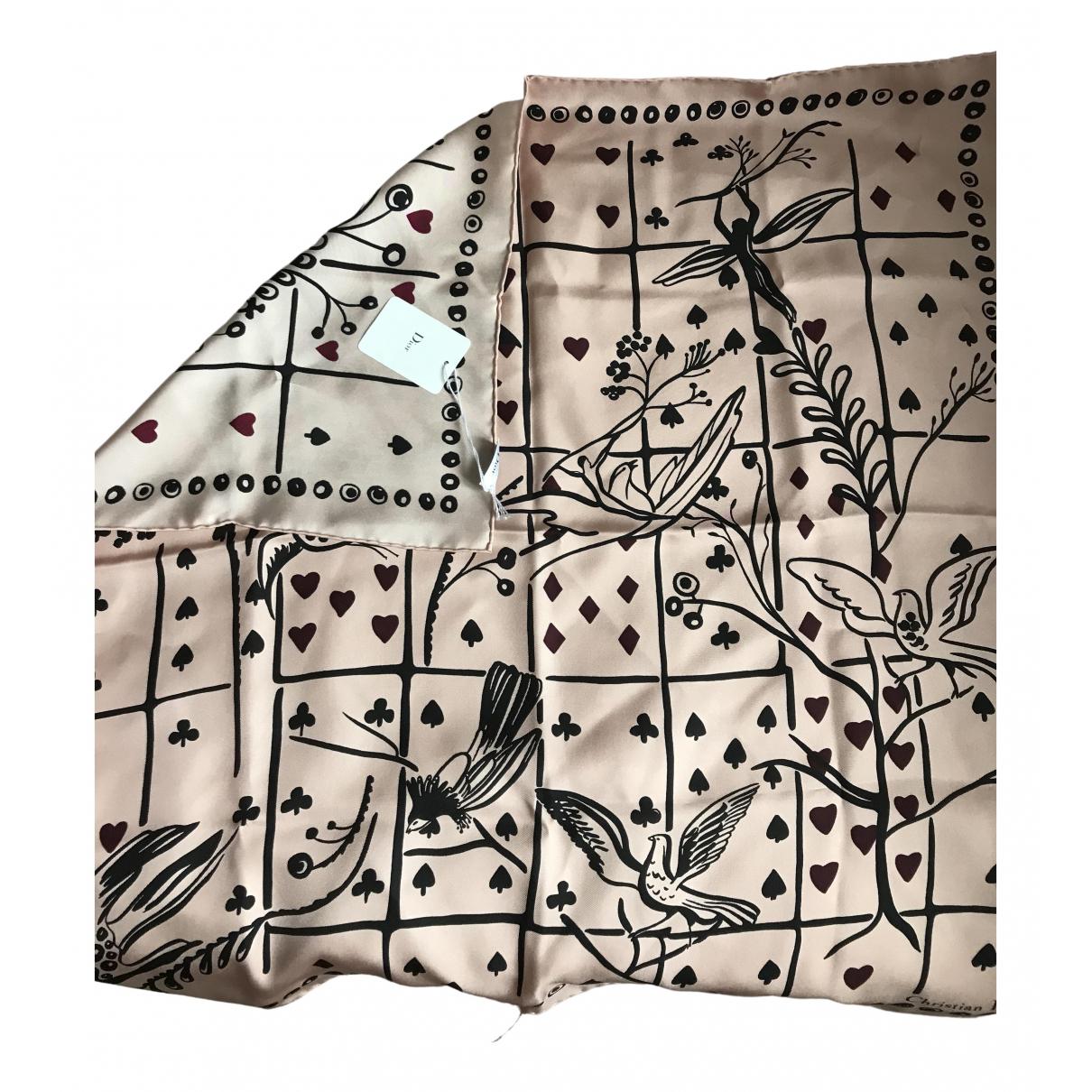 Dior \N Schal in  Rosa Seide