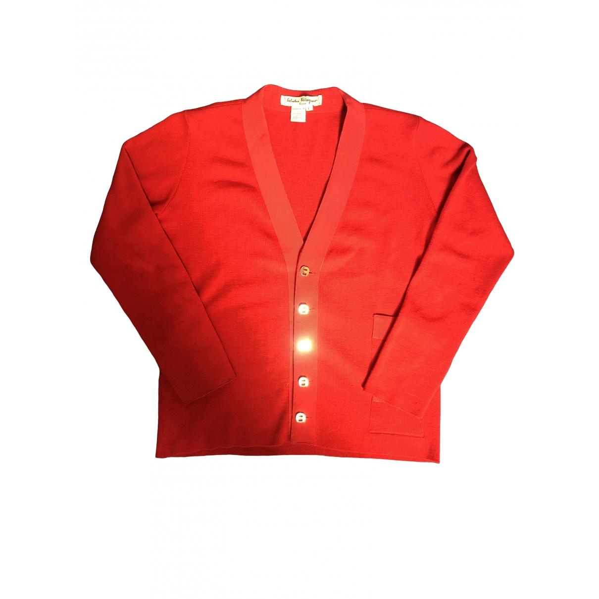 Salvatore Ferragamo \N Red Wool Knitwear for Women L International