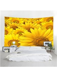 Sunflowes All Seasons Floral Pattern Decorative Hanging Wall Tapestries