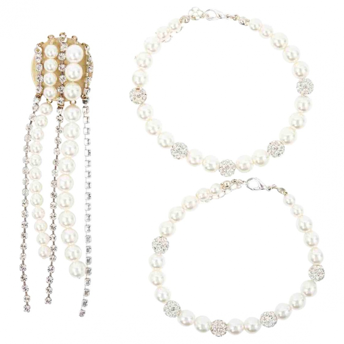 Magda Butrym \N Gold Pearls Jewellery set for Women \N