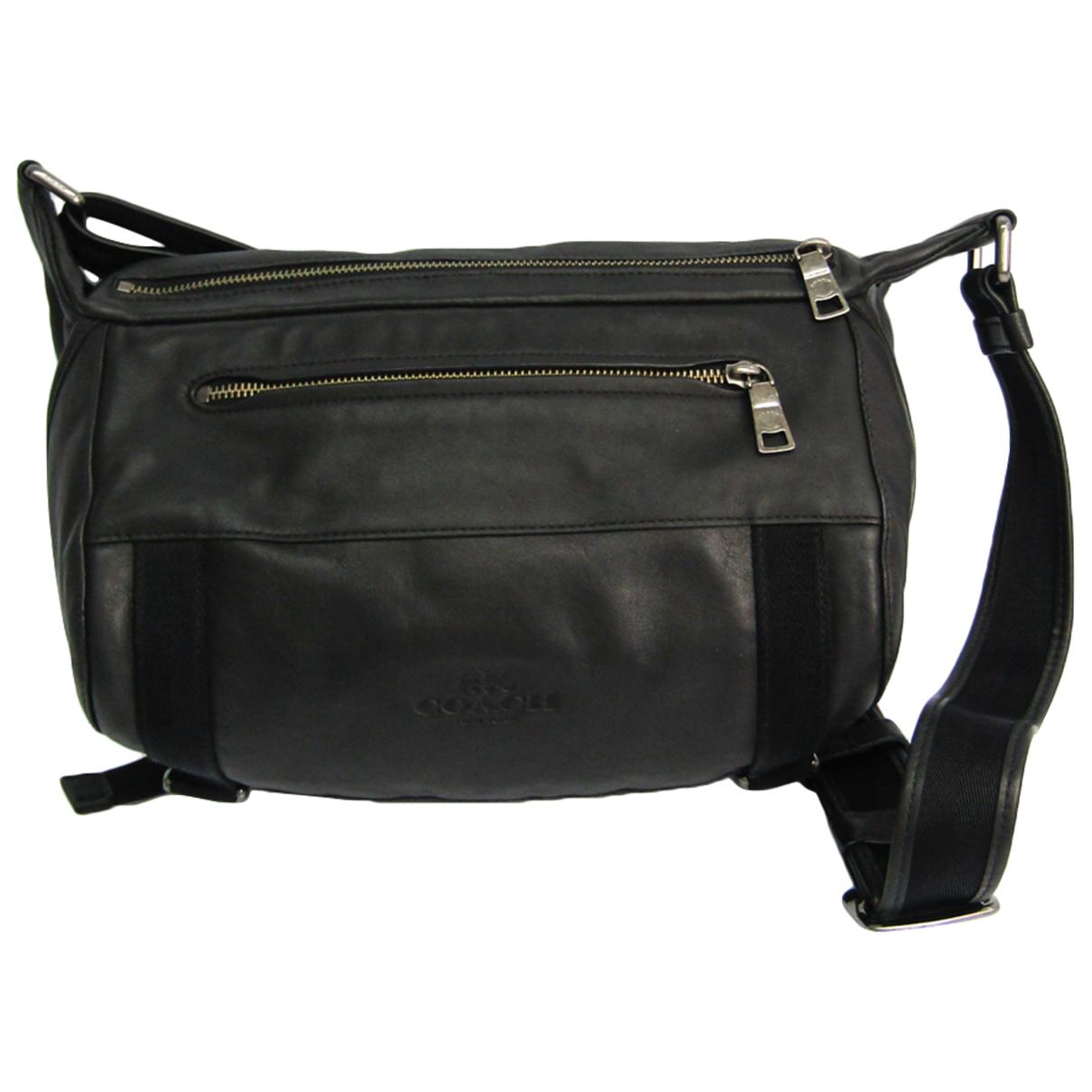 Coach \N Taschen in  Schwarz Leder