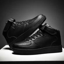 Zapatos patin de hombres arriba alta con tira velcro